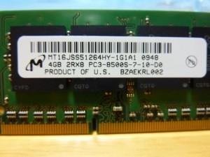 Micron純正 MT16JSS51264HY-1G1A1