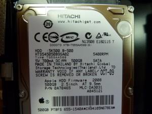 ハードディスクは日立製